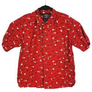 Woolrich Fishing Fish Hook Shirt Button Up Medium